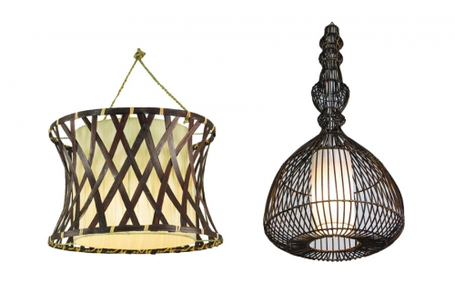 Pendant Lamps made of natural materials