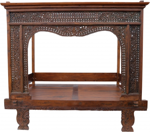 Historic four-poster bed, teak daybed - Model 8 - 203x228x150 cm