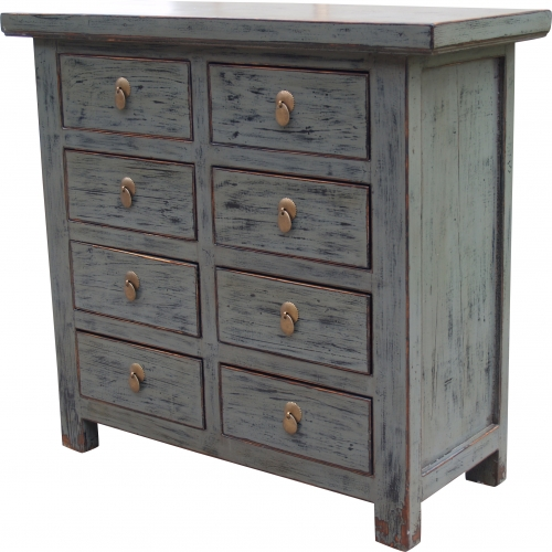 Solid vintage chest of drawers, highboard, sideboard, hall cupboard - Model 34 - 91x98x41 cm