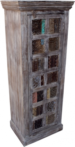 Cabinet, side cabinet, chest of drawers with old block printing stamps - Model 32 - 157x60x45 cm