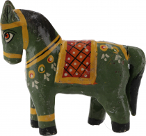 Deco horse, painted in antique look - green