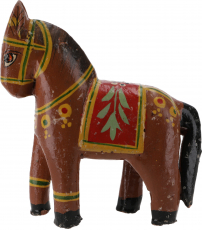 Deco horse, painted in antique look - brown