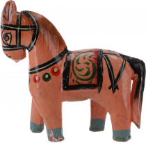Deco horse, painted in antique look - salmon
