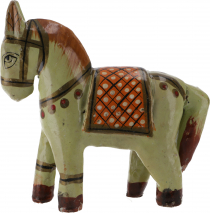 Deco horse, painted in antique look - mint