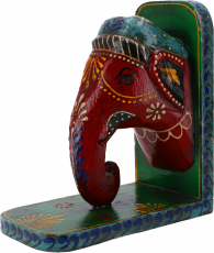 Bookend `Elephant` - red