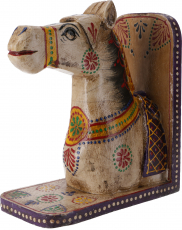Bookend `horse` - white