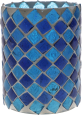 Glass lantern glass blue - Design 1