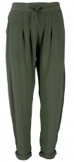 Narrow trousers, pencil trousers, summer trousers - olive green