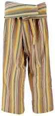 Thai fishing trousers made of striped woven fine cotton, wrap tro..
