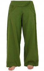 Comfortable palazzo trousers, Marlene trousers - green