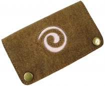 Tobacco Bag, Tobacco Bag, Leather Turning Bag Spiral - beige