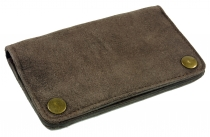 Tobacco bag, tobacco pouch, leather swivel bag - taupe