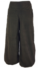 Wide Cord Pluderhose - dark brown