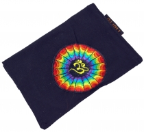 Goa Tobacco Bag, Turning Bag, Tobacco Bag Rainbow Om - black