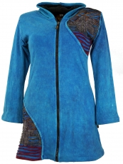 Goa Patchwork Jacket - blue
