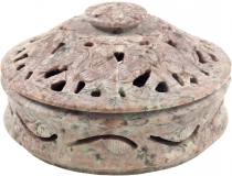 Indian incense holder, potpourri soapstone bowl - elephant bowl