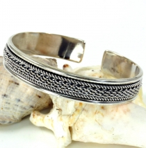 Silver bangle with celtic knot, Celtic bangle - Model 2