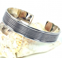 Silver bangle with celtic knot, Celtic bangle - Model 3