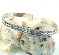 Silver bangle with celtic knot, Celtic bangle - Model 5