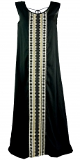 Narrow Boho maxi dress, summer dress - black