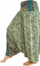 Light harem pants Pluderhose Pumphose Aladdin pants - emerald gre..