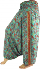 Light harem pants Pluderhose Pumphose Aladdin pants - turquoise
