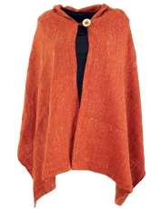 Poncho scarf, poncho, cape scarf - rust-red