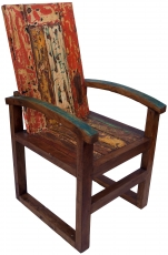 Wooden armchair, chair in recycled teak - Model 9