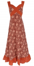 Summer dress, Maxi dress, Beach dress - rust red