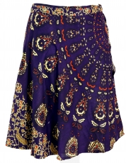 Short wrap skirt, Boho mini skirt - violet