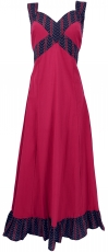 Summer dress, Maxi dress, Beach dress - bordeaux red
