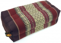 Meditation cushion, Thai neckrest square with kapok - brown