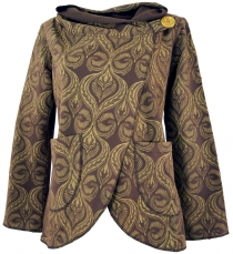 Cape Boho wrap jacket - caramel