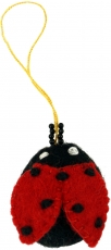felt pendant, felt decoration, tree curtain - Ladybird