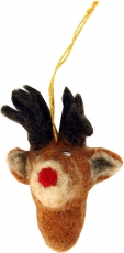 felt pendant, tree curtain - reindeer