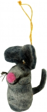 felt pendant, felt decoration, tree curtain - mouse