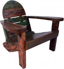 Wooden armchair, recycled teak chair - Model 5