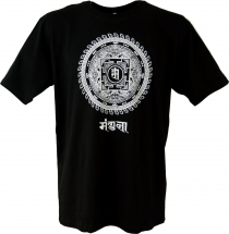 Tibet Buddhist Art T-Shirt - Mandala black/white