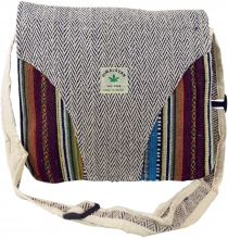 Hemp shoulder bag, Ethno Nepal bag - Hemp bag 3