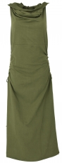 Changeable Goa dress, Psytrance Festival dress - olive green