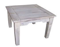 Antique white square coffee table - model 6