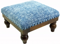 Arab-Moroccan kilim floor stool, oriental seat with wooden frame,..