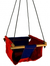 Baby and toddler hanging seat, swing seat - red