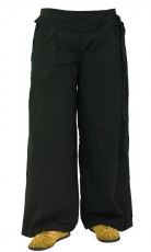 Comfortable palazzo trousers, Marlene trousers - black