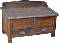 Floor writing desk, small writing desk with many compartments - M..