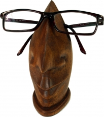 Wooden glasses stand - dark brown