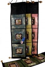 Brocade wall bag with 3 compartments from Thailand - sample 4