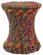 Colourful basket stool