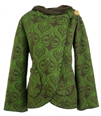 Cape Boho wrap jacket - green