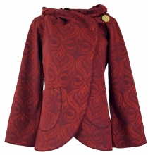 Cape Boho wrap jacket - red